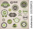 Set of organic badges and labels - stock photo