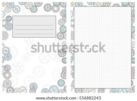 Set Pages Template Daily Planner Printable Vector 556882243 – Diary Paper Printable