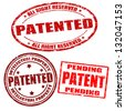 Set of patented grunge rubber stamps on white, vector illustration - stock photo