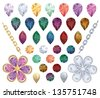 Set of precious gem. - stock vector