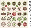 Set of premium quality badges and labels - stock vector