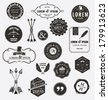SET OF QUALITY DESIGN ELEMENTS. Arrows, labels, ribbons, symbols such as logos. Editable vector illustrator file.