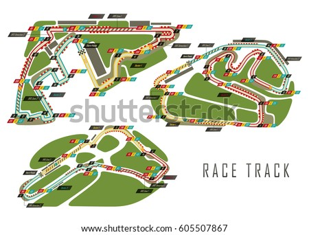 Loop Isolated Race Track Formula One Stock Vector ...