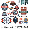 Set of retro advertising labels. EPS10 vector - stock vector
