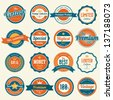 Set of  retro vintage badges and labels.eps10 - stock vector