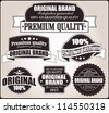 Set of retro vintage labels, vector - stock vector