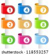 Set of ribbons with numbers, vector eps10 illustration - stock vector