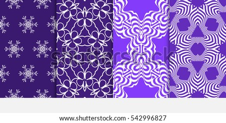 set of Seamless floral geometric pattern. decorative print. Vector illustration. for Valentine's day, Wedding, invitation.