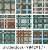 Set of seamless plaid patterns - stock vector