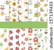 Set of 10 seamless spring patterns  - stock vector
