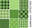 Set of seamless tartan patterns - stock photo