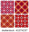 set of seamless tartan patterns - stock vector