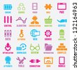 Set of seo and internet service icons - part 2 - vector icons - stock photo