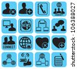 set of social media icons - vector illustration - stock vector