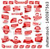 Set of stickers and banners - stock