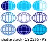 Set of the globe icons - stock