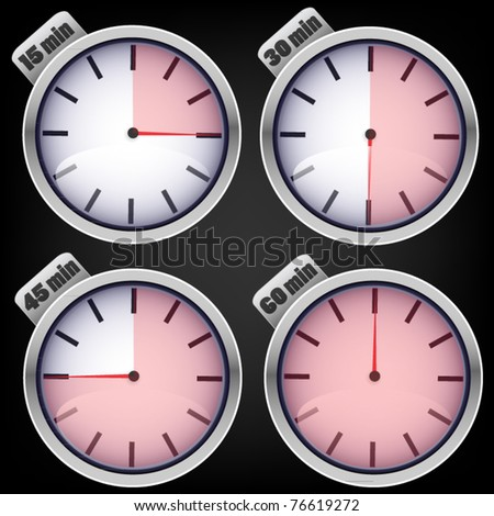 Set of timers - white