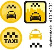 set of various taxi icons - stock vector