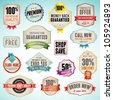 Set of vector badges and labels - stock