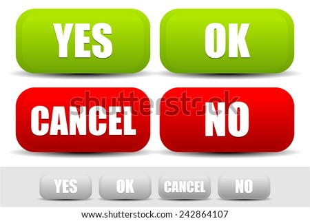 Simple Ok Not Ok Buttons Stock Vector 274187375 - Shutterstock