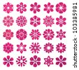 Set of vector flower icons and elements - stock vector