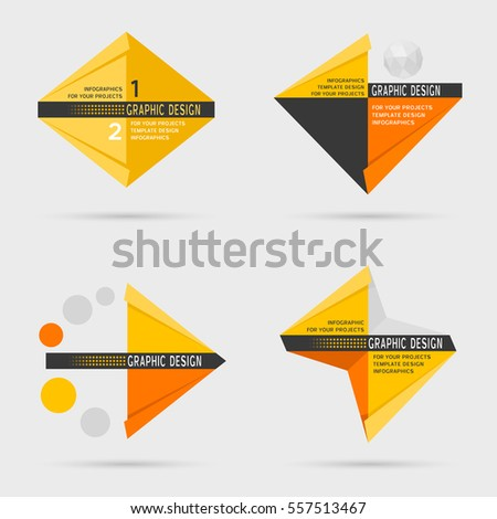 Set of vector geometric infographic design elements