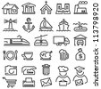 Set of vector icons from the lines on a white background - stock vector