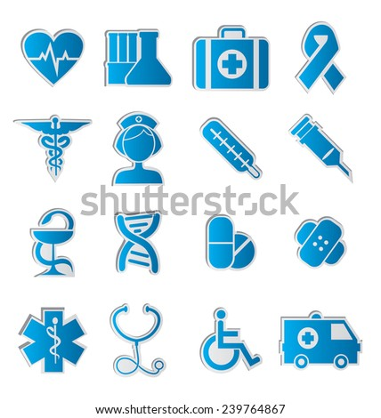 set of vector icons on the medical theme