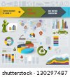 Set  of vector info-graphics elements for design, eps 10 - stock vector