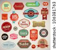 Set of vector labels and stickers - stock photo