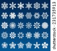 set of vector snowflakes  - stock vector