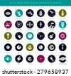Set of vector space icons, pictograms and infographics elements - stock photo