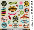 Set of vector stickers and ribbons. Graphic Design Editable For Your Design. - stock vector