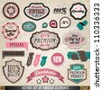 Set of Vector Vintage Badges and Labels. Graphic Design Editable For Your Design. - stock vector
