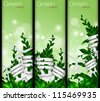 Set of vertical banners. The concept of green energy - stock vector