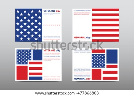American flag independence day vector illustration stock for America brochure template