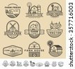 Set of vintage and modern farm badge logo and labels design. Vector illustration