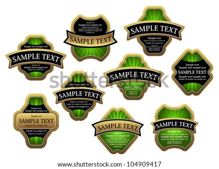 Set of vintage labels for design food and beverages. Jpeg version also available in gallery