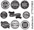 Set of Vintage Retro Labels - stock