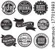 Set of Vintage Retro Labels - stock