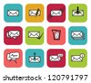 Set of web Email Icons - stock vector