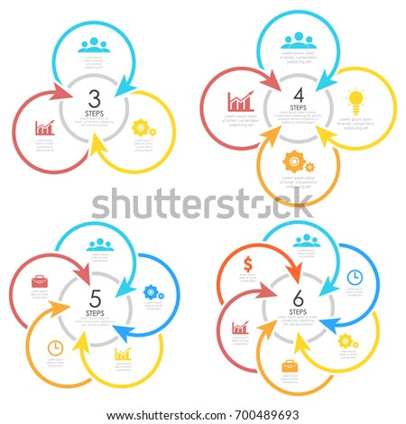 Vector Round Infographics Template Circle Diagram Stock Vector