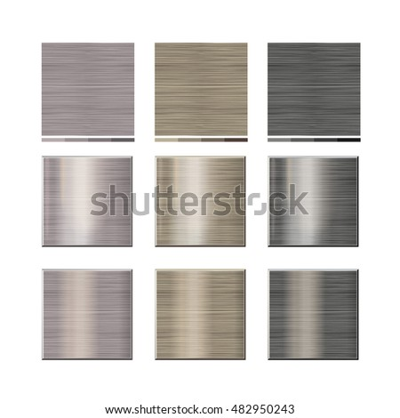 set - seamless natural texture. 3 colors. A vector.