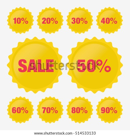 Set Template Red Sale Tag Vector Stock Vector 597243851 - Shutterstock