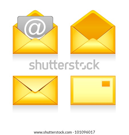Set vector e mail icon