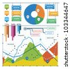 Set vector elements of infographics - stock photo