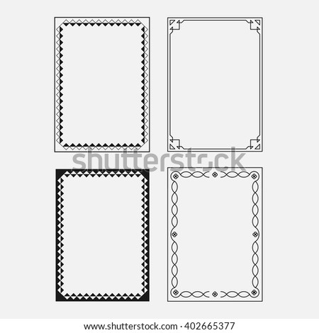 set vector image, decorative ornamental frame