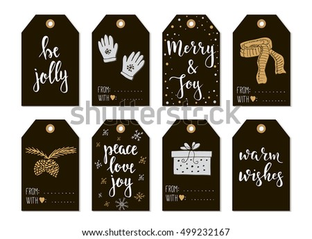 Set happy easter gift tags ink stock vector 377317579 shutterstock set with merry christmas and happy new year vintage gift tags and cards with calligraphy negle Images