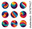 sets of colorful sphere design