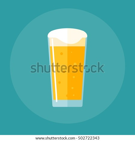 shaker pint glass flat icon